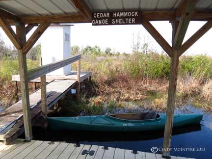 Cedar Hammock shelter