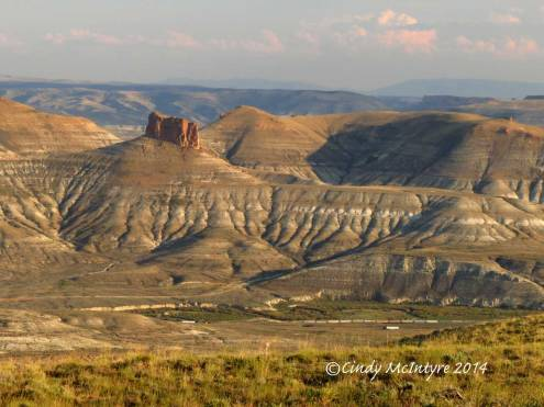 View of Green River, Wyoming from Pilot Butte