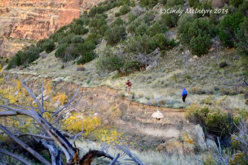 Hikers,-Lower-Sand-Canyon,-Echo-Park-(2)-copy