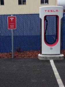 Tesla charging station, Grants Pass, Oregon