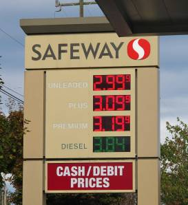 First time I saw gas below $3.00 a gallon in what seems like a decade.  This was in Seattle.