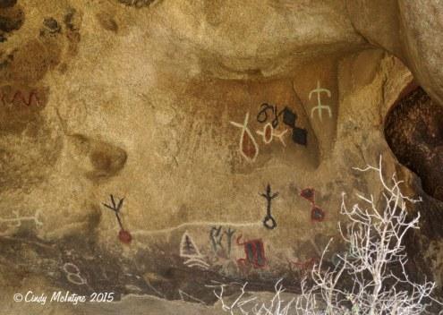 Ruined petroglyphs