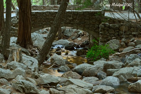 Footbridge below Bridal Veil Falls