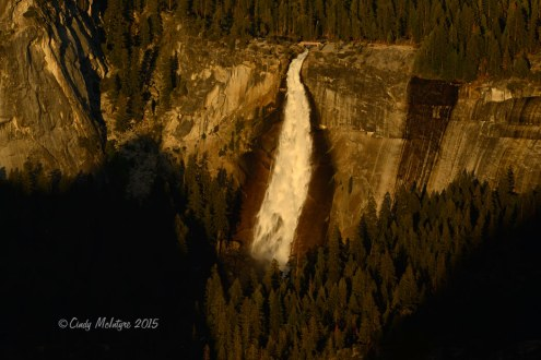 Vernal Falls at sunset