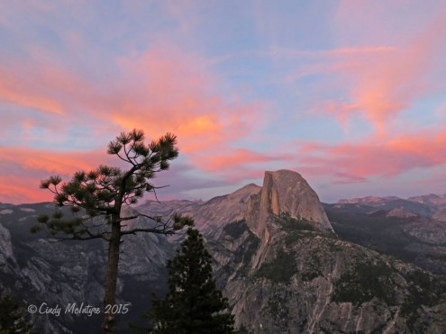 Half Dome at sunset, Glacier Point view, Yosemite