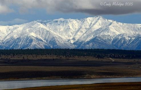 White Mountains with fresh snow