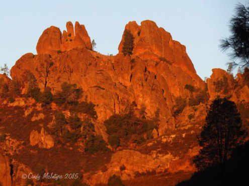 The pinnacles in Pinnacles National Park