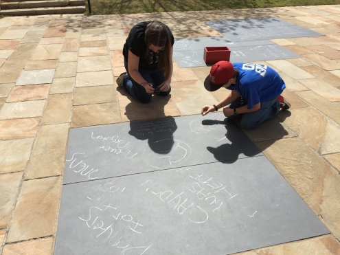 Writing messages in chalk