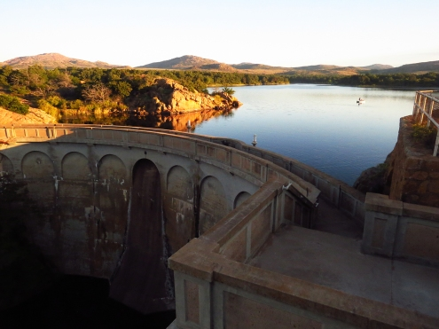Dam at Quanah Parker Lake