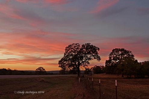 Country sunset, Wilburton, Oklahoma