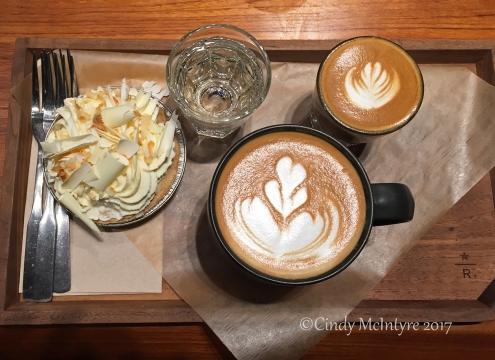 Latte at the Starbucks Reserve