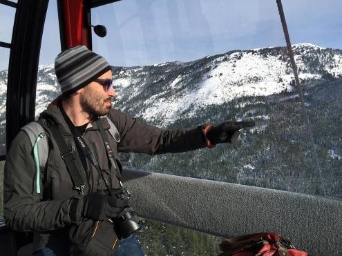 Ryan in gondola
